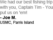 Cast Away Fishing Charters Testimonial